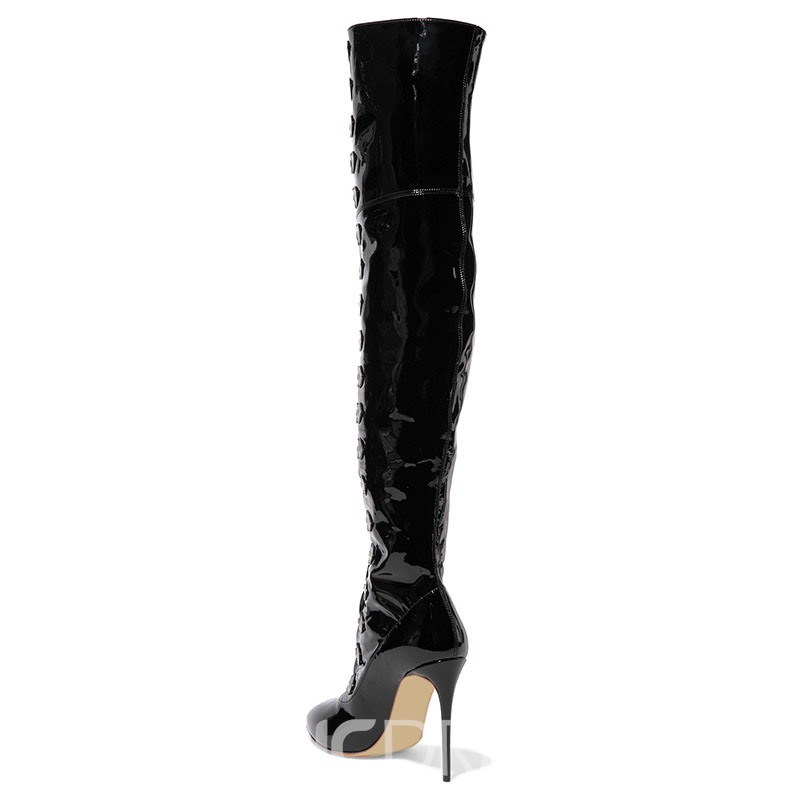 Ericdress Pointed Toe Stiletto Heel Over The Knee Chic Boots
