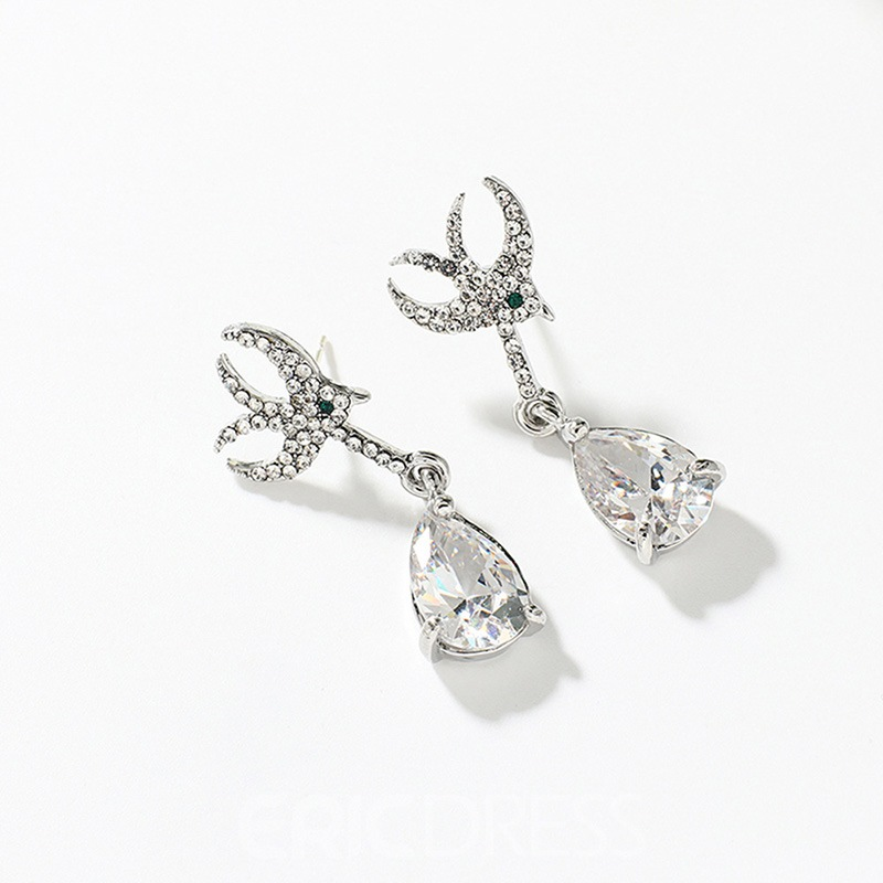 Ericdress Swallow Rhinestone Fashion Earrings