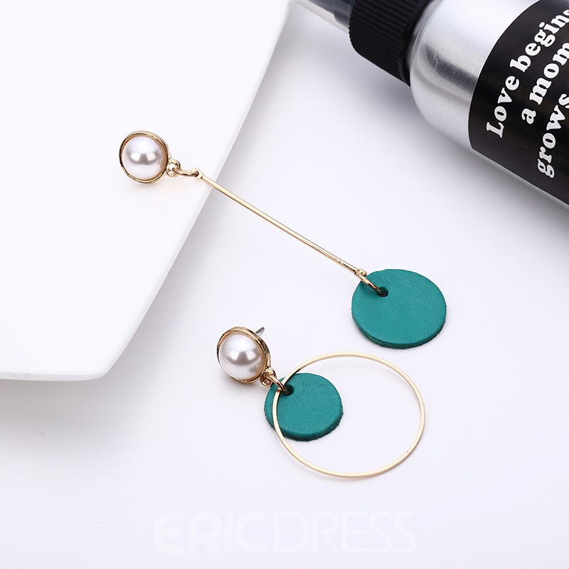 Ericdress Candy Color Leather Earrings