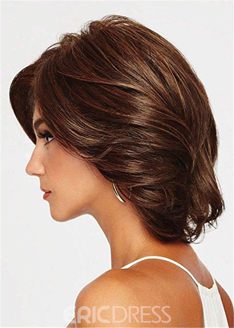 Ericdress Mid Length Bob Type Synthetic Wavy Hair Capless Wig