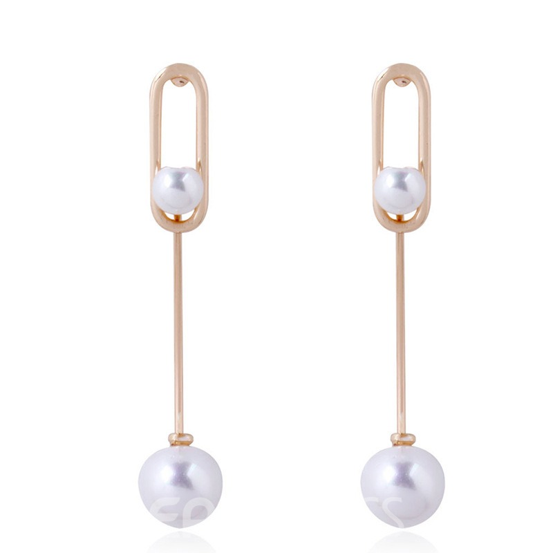 Ericdress Pearl Clip Fashion Earrings