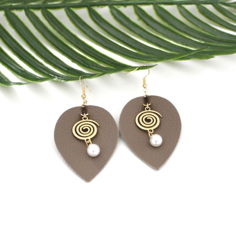 Ericdress Pearl Leather Fashion Earrings