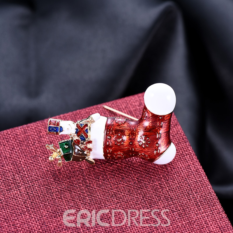 Ericdress Christmas Stockings Brooches