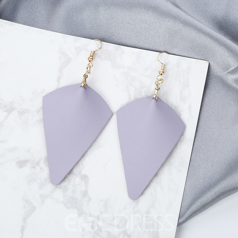 Ericdress Cplor Leather Fashion Earrings