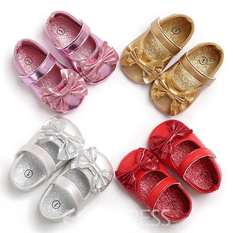 Ericdress Bow Velcro Baby Girl Shoes