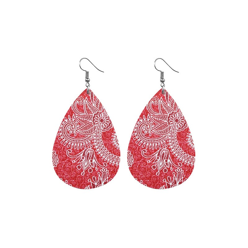 Ericdress Printing Style Leather Fashion Earrings