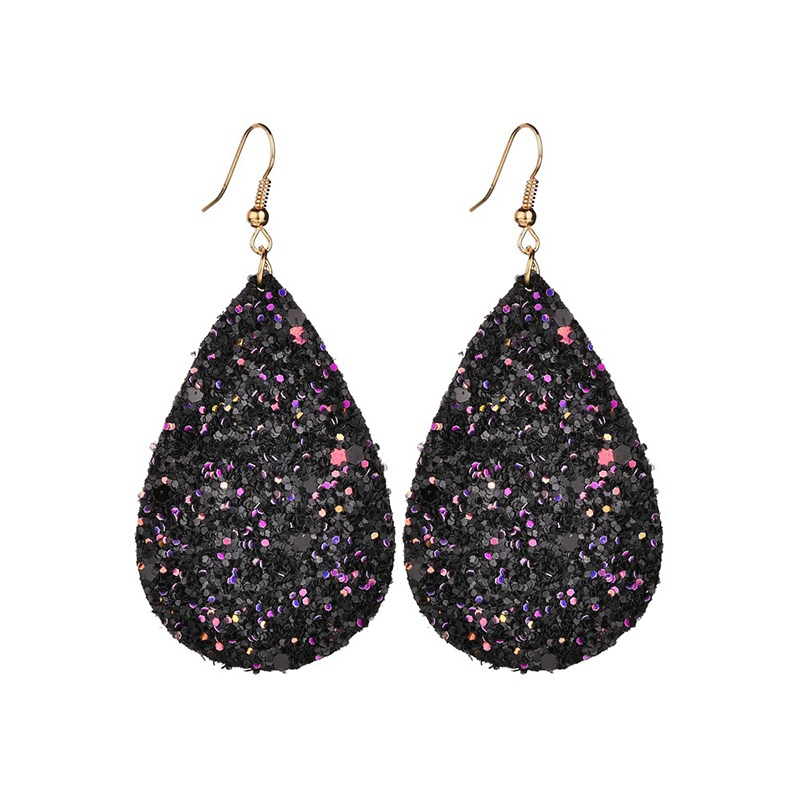 Ericdress PU Paillette Leather Fashion Earrings