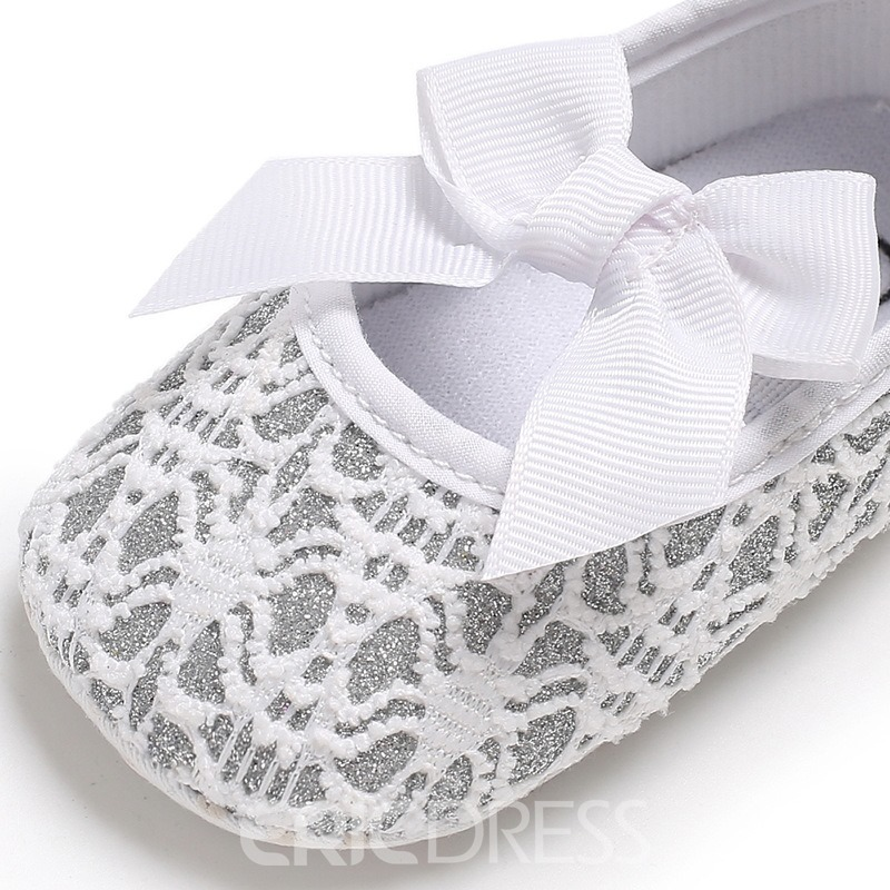 Ericdress Bow Plain Toddler Girl Shoes