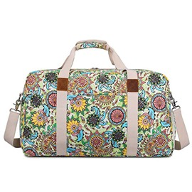 Ericdress Floral Canvas Zipper Women Tote Bag