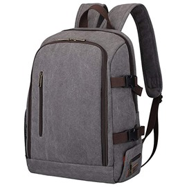 Ericdress Plain Canvas Quake Proof Backpack