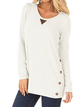 Ericdress Patchwork Mid-Length Round Neck Fall T-Shirt