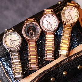 Ericdress Golden Hardlex Round Watch