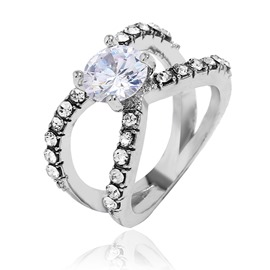 Ericdress Diamante Shinning Ring