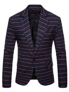 Ericdress One Button Striped Mens Casual Blazer Jacket