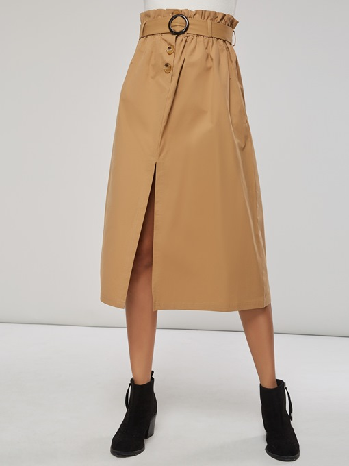 Ericdress Plain Pocket Split Women's Column Skirt