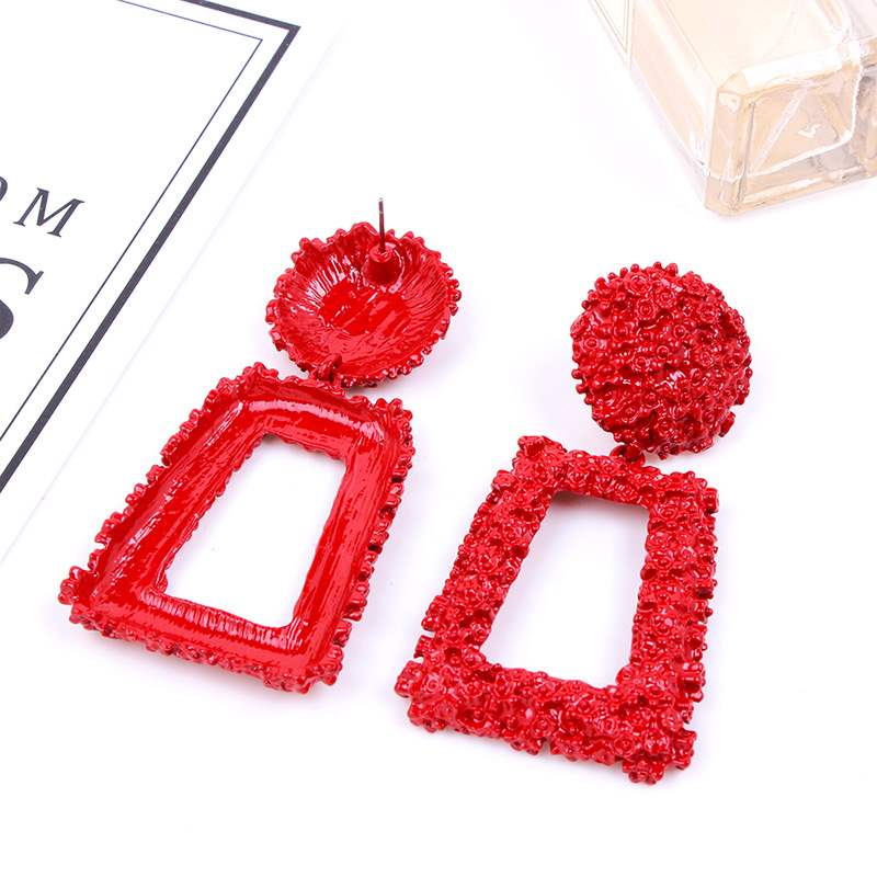 Ericdress Hollow Out Rectangle Fashion Earrings