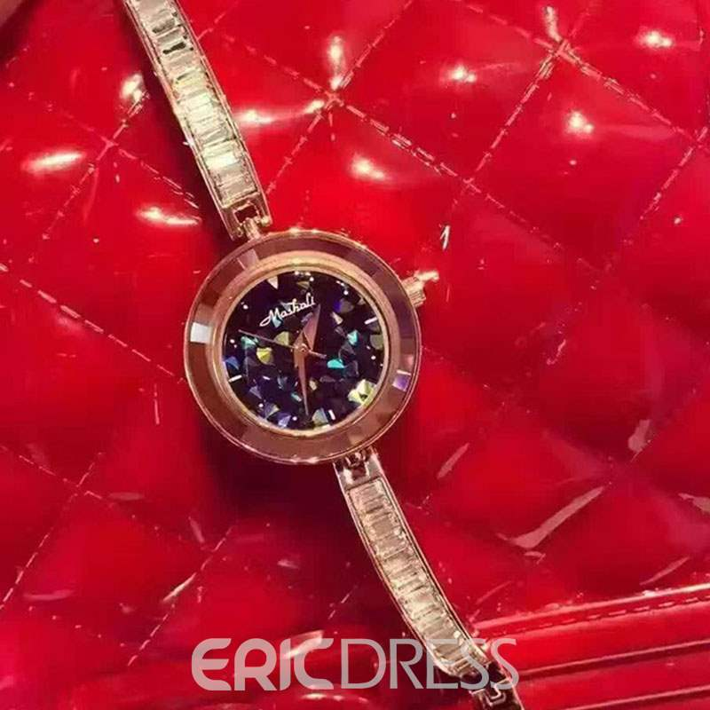 Ericdress Round Quartz Thin Strap Watch