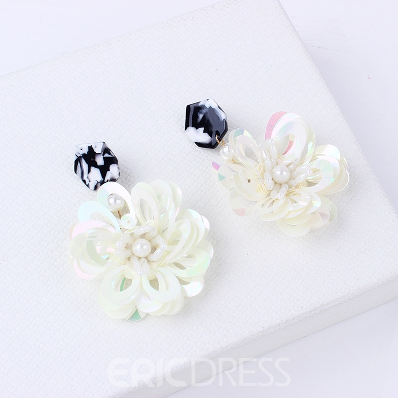 Ericdress Flowers Paillette Fashion Studs