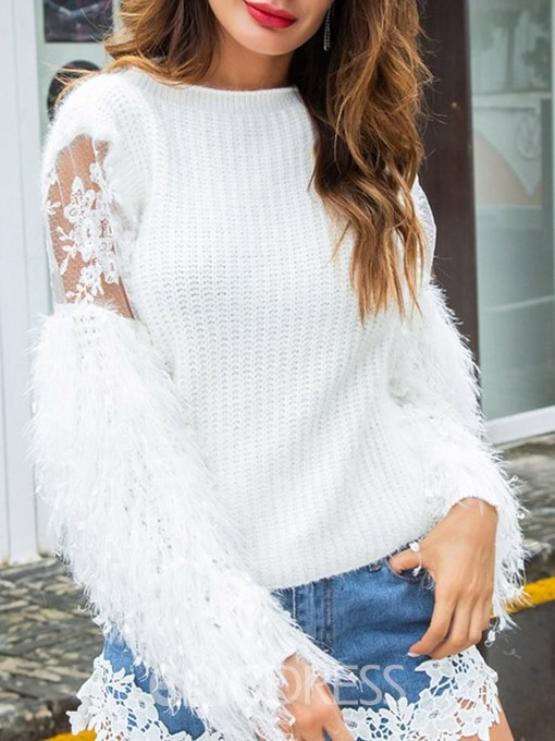 Ericdress Tassel Embroidery Patchwork Knitwear