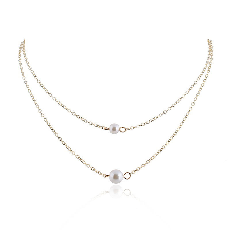 Ericdress Double Pearl Charm Necklace