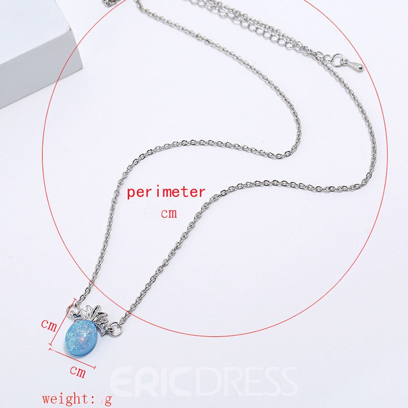 Ericdress Pineapple Opal Charm Necklace