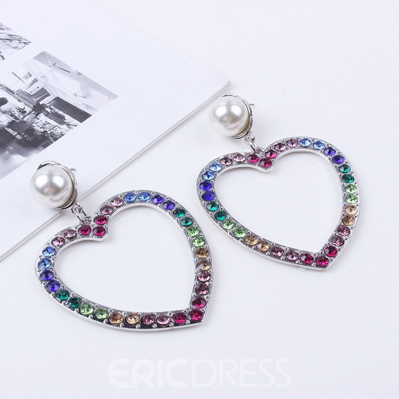 Ericdress Pearl Diamante Fashion Earrings