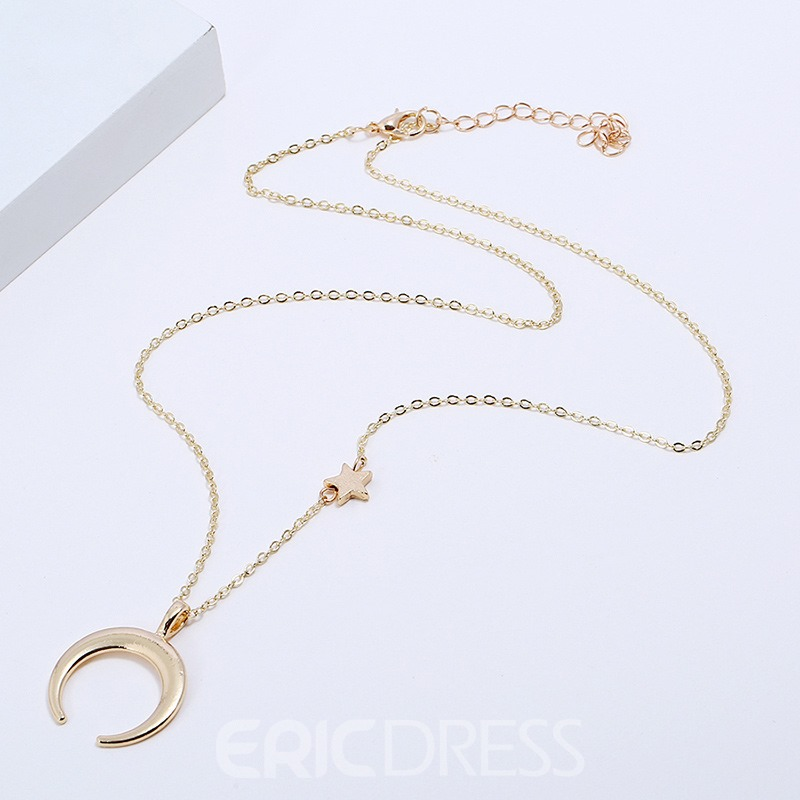 Ericdress Moon Chic Charm Necklace