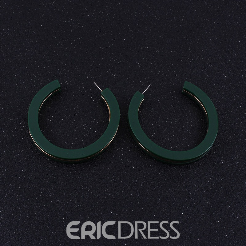 Ericdress Acrylic C Fashion Earrings