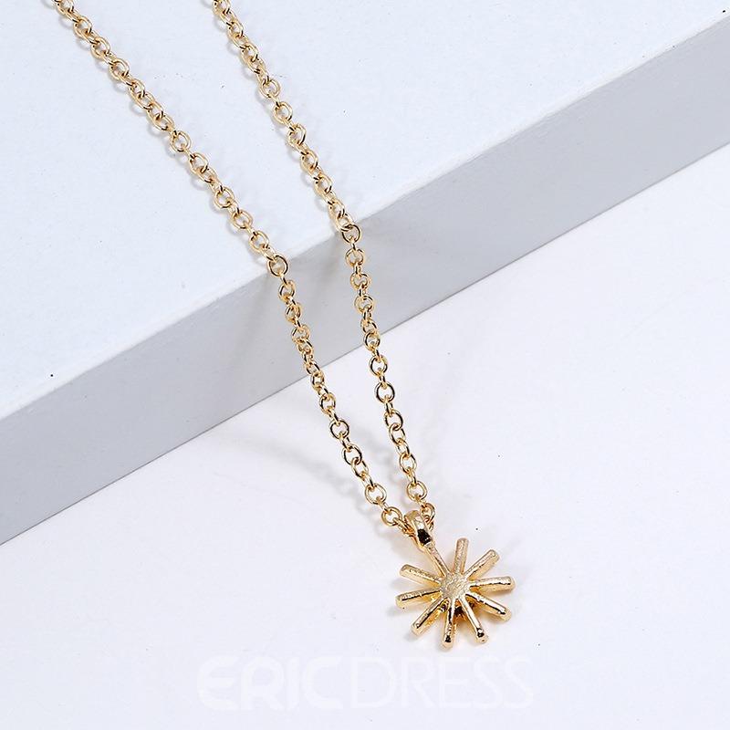 Ericdress Sun Goddess Charm Necklace