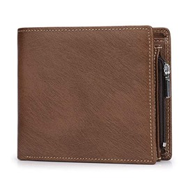 Ericdress Leater Zipper Unisex Mini Wallet