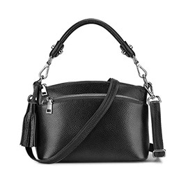 EricdressLeather Barrel Shaped Women Shoulder Bag
