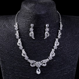 Ericdress Bowknot Rhinestone Jewelry Set