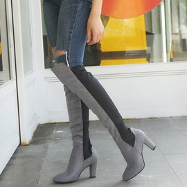 Ericdress Slip-On Plain Pointed Toe Women's Knee High Boots