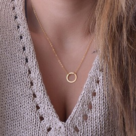 Ericdress Ring Charm Necklace For Women