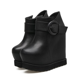 Ericdress Round Toe Side Zipper Platform Women's Ankle Boots