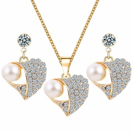 Ericdress Heart Pearl Jewelry Set