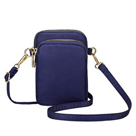 Ericdress Plain Nylon Zipper Women Crossbody Bag