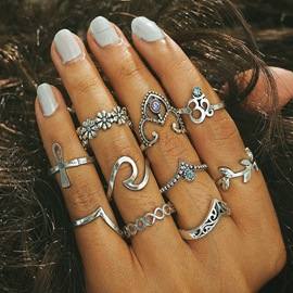 Ericdress Lady Ring Set