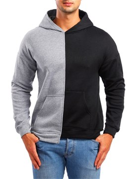 Ericdress Color Block Hooded Casual Mens Pullover Hoodies