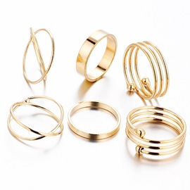 Ericdress Simple Ring Set
