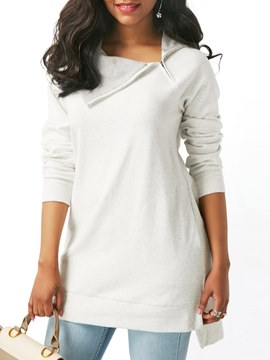 Ericdress Casual Plain Pullover Zip Up Cool Hoodie