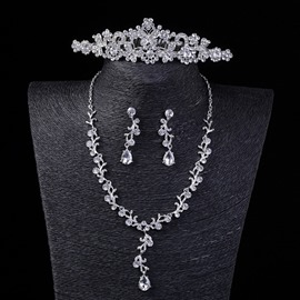 Ericdress Rhinestone Bride Wedding Jewelry Sets