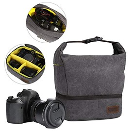 Ericdress Canvas Waterproof Zipper Men's Camera Bag