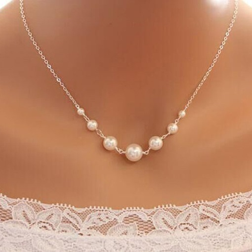 Ericdress Pearl Elegance Charm Necklace
