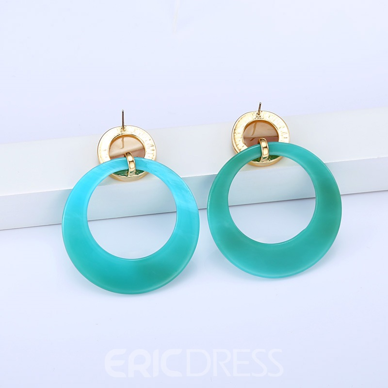 Ericdress Acrylic Ring Fashion Earrings