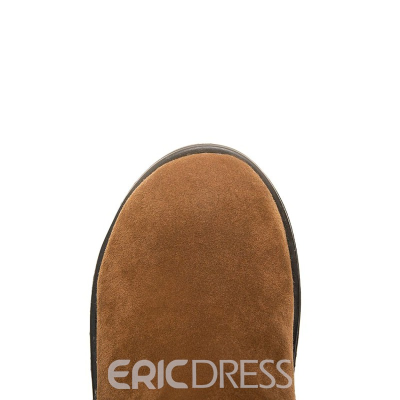 Ericdress Round Toe Wedge Heel Women's Snow Boots