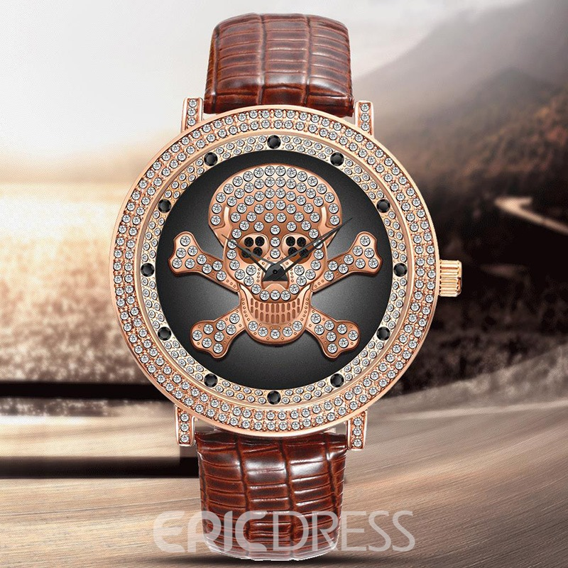 Ericdress Skull Diamante Watch