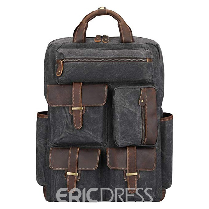 Ericdress Plain Leather Belt Decorated Men's Bag