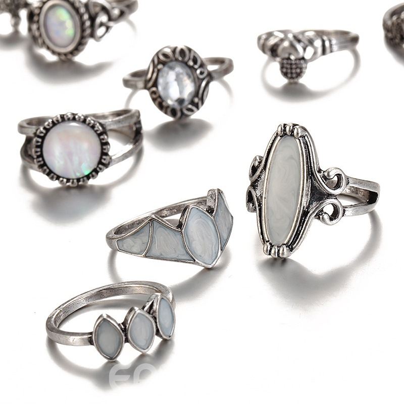 Ericdress Opal Ring Set