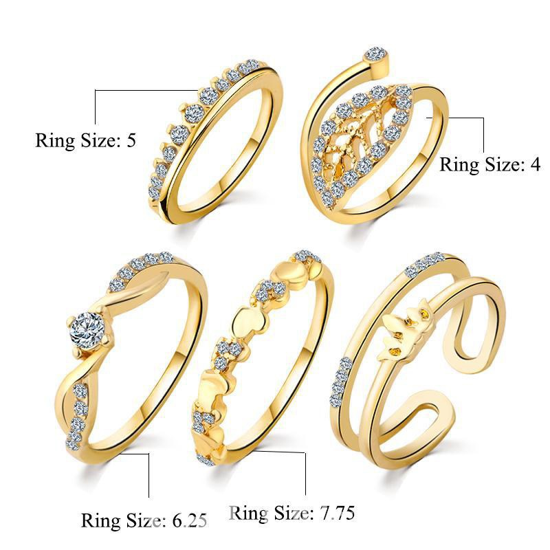 Ericdress Shining Ring Set